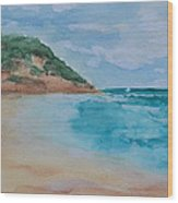 Grecian Sea Wood Print