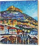 Greece Lesbos Island 2 Wood Print by Leonid Afremov