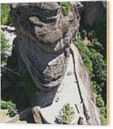 Greece-meteora Wood Print
