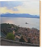 Greece-nafplio Castle Wood Print