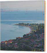 Greece. The Rioantirrio Bridge Wood Print
