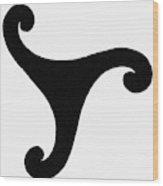 Greece Triskelion Wood Print