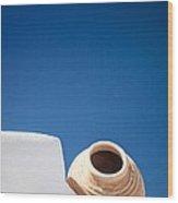 Greek Amphora Wood Print