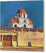 Greek Church 7 Wood Print