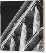 Greek Columns Wood Print