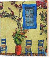 Greek Corner 1 Wood Print