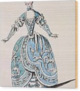 Greek Costume For The Chorus Wood Print
