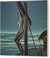 Greek Crucifixion Scene II Wood Print