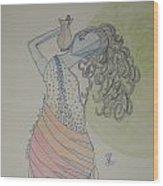 Greek Goddess Wood Print