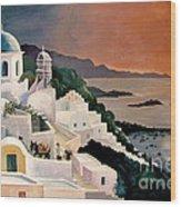 Greek Isles Wood Print