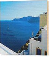 Greek Mediterranean Wood Print