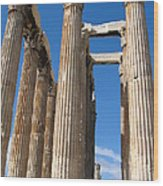 Greek Ruins Wood Print