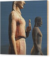 Greek Sculpture Athens 1 Wood Print by Bob Christopher