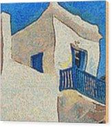Greek Village 27 Wood Print