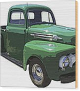 Green 1951 Ford F-1 Pick Up Truck Illustration  Wood Print