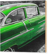 Green 1957 Chevy Wood Print