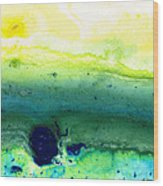 Green Abstract Art - Life Song - By Sharon Cummings Wood Print