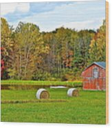 Green Acres Wood Print