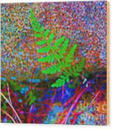 Green - Against The Grain Wood Print