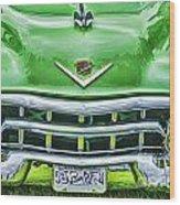 Green And Chrome-hdr Wood Print