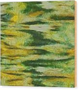 Green And Yellow Abstract Wood Print