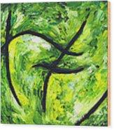 Green Apple Wood Print by Kamil Swiatek