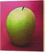 Green Apple Whole 1 Wood Print