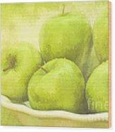 Green Apples Wood Print