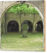 Green Arch Wood Print