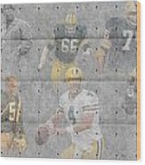 Green Bay Packers Legends Wood Print