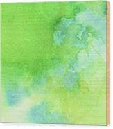 Green Blue Background Abstract Wood Print