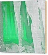 Green Cave Wood Print