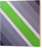 Green Chevron Wood Print