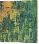 Green City Wood Print