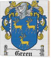 Green Coat Of Arms Irish Wood Print