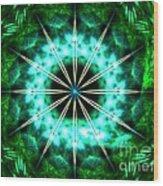 Green Compass Wood Print