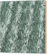 Green Cornfield Wood Print