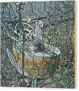Green Crabbing Basket Wood Print