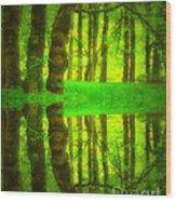 Green Day Dreams Wood Print