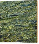 Green Diamonds Wood Print