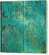 Green Door - Carmel By The Sea Wood Print