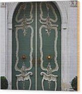 Green Door In Gdansk Wood Print