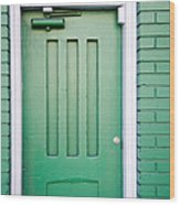 Green Door San Francisco Wood Print