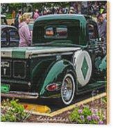 Green Dream Ford Wood Print
