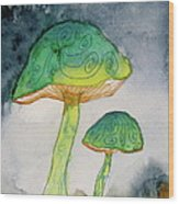 Green Dreams Wood Print