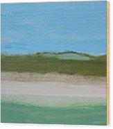 Green Dunes Wood Print