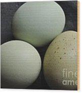 Green Eggs Wood Print