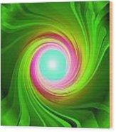 Green Energy-spiral Wood Print