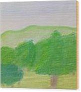 Green Enjoyment Wood Print