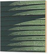 Green Facade Wood Print